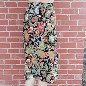 Vintage Intriguing Threads skirt, sz 10